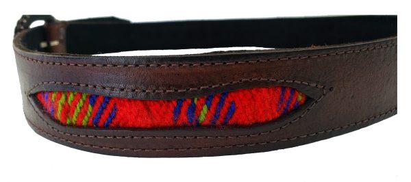 Leather Belt with Sash Inserts Ceinture de Cuir avec la Ceinture Fléchée Incrustrée 4