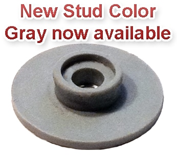New Stud color just added – Gray is now available