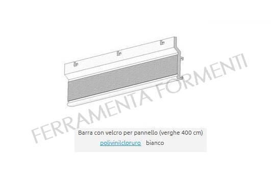 Stock binari carrelli e connettori per. Barra Scorrevole Con Velcro Ricambio Per Binario Tende A Pannello Colore Bianco