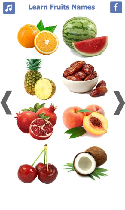 Learn Fruits Name (4)