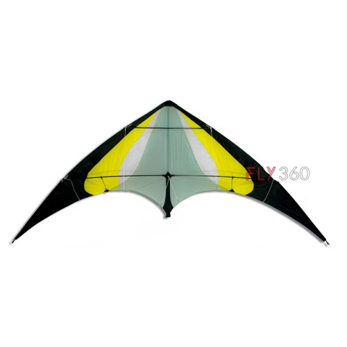 Yellow Stunt kite- Big size - Dual line kite - FLY360 kite store