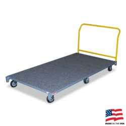 "American Cart Carpeted Platform Truck - 43"" x 80"""