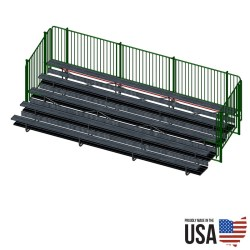 Signature Series Bleacher Package - 5 Rows, 15 ft