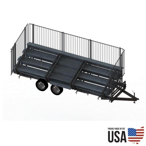 Granite Fold-N-Tow 72 Portable Bleachers - 72 seat Capacity