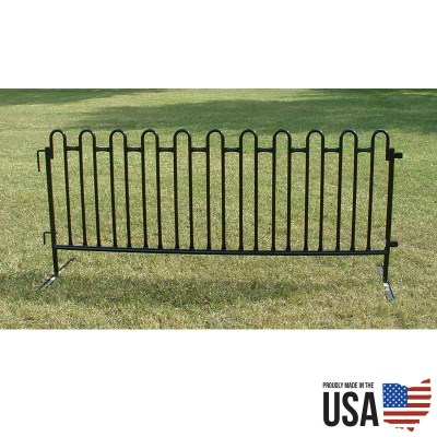 Granite Black Tie 8 ft Premium Fencing - 10 sections per pack