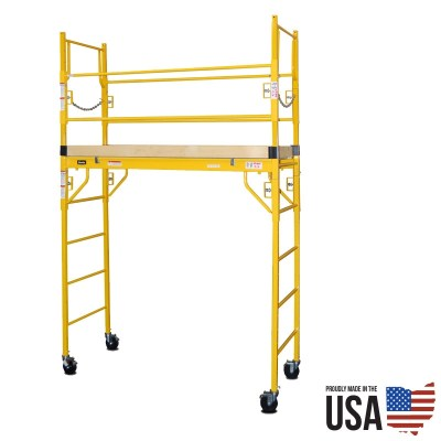 Granite Indy-606G Utility Scaffold - Single Unit with Guard Rail
