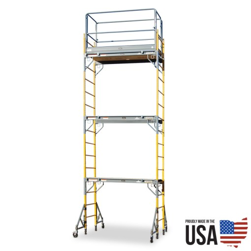 Granite Snappy SP-6T Scaffold - Triple Unit with Guardrail & Outriggers
