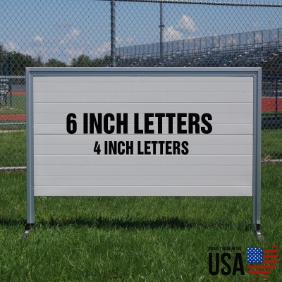 Granite 3'x5' Full Size Portable Magnetic Sign - Aluminum