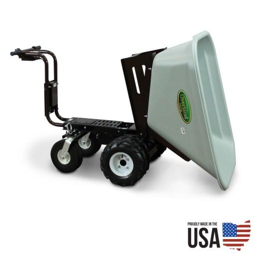 Overland Electric Powered Wheelbarrow – 10 Cu. Ft. Hopper