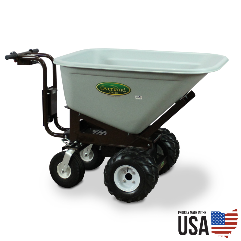 Electric Powered Wheelbarrow With 10 Cu Ft Hopper