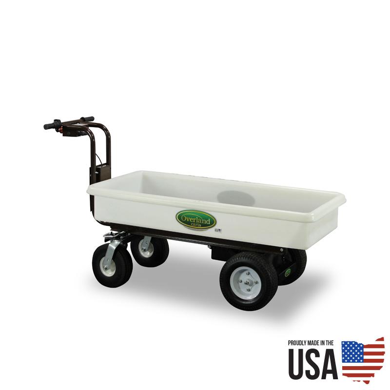 Electric Garden Cart Overland Wagon 6 Cu Ft Hopper R Throughout Design Ideas