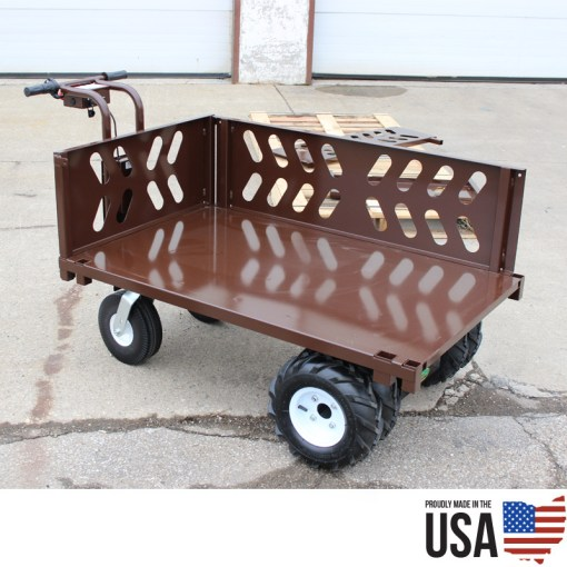 Overland Electric Power Wagon - 10.5 Cu. Ft. Metal Hopper