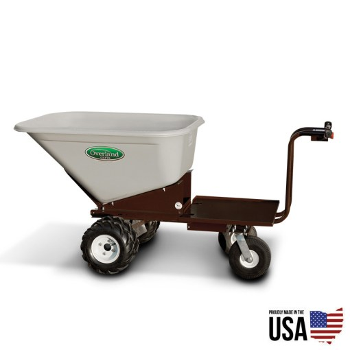 Electric powered wheelbarrow with 10 cu ft hopper and platform for Motorized wheelbarrows for sale