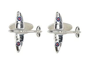 Silver Spitfire Cufflinks