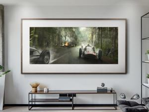 A Dampened Victory - Artwork - Large Print Unframed image 2 on GreatBritishMotorShows.com