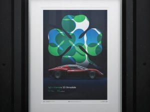 Alfa Romeo 33 Stradale - Red - 1967 - Poster image 2 on GreatBritishMotorShows.com