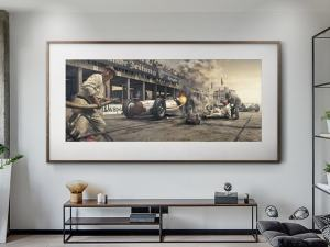 Burn And Crash - Artwork - Large Print Unframed image 2 on GreatBritishMotorShows.com