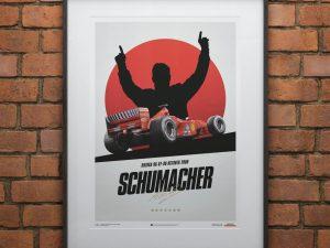 Ferrari F1-2000 - Michael Schumacher - Japan - Suzuka GP - Poster image 2 on GreatBritishMotorShows.com