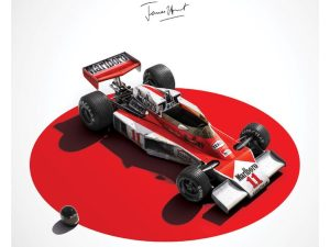 McLaren M23 - James Hunt - Japan - Japanese GP - 1976 - Limited Poster   Signed - #510 image 2 on GreatBritishMotorShows.com