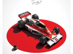 McLaren M23 - James Hunt - Japan - Japanese GP - 1976 - Limited Poster   Unique #s - #1000 image 2 on GreatBritishMotorShows.com