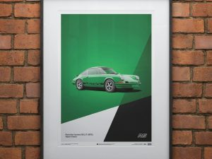 Porsche 911 RS - Green - Limited Poster image 2 on GreatBritishMotorShows.com