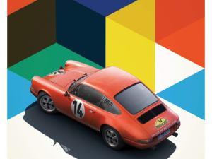 Porsche 911R - Red - Marathon de la Route - 1967 - Limited Poster image 1 on GreatBritishMotorShows.com