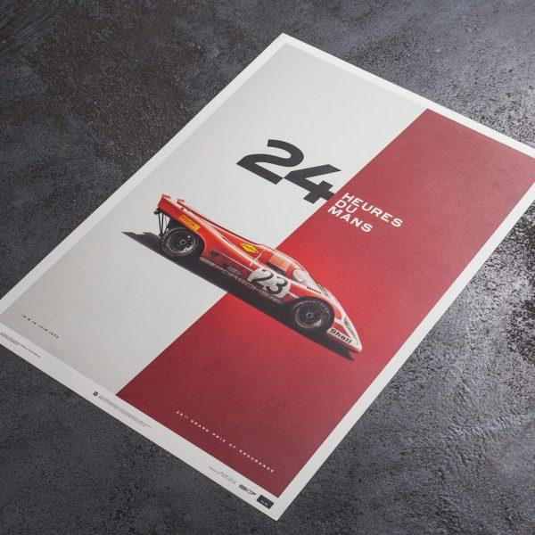 Porsche 917 - Salzburg - 24h Le Mans - 1970 - Limited Poster | Unique #s - #1 image 3 on GreatBritishMotorShows.com