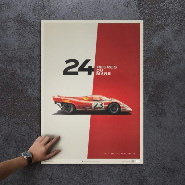 Porsche 917 - Salzburg - 24h Le Mans - 1970 - Limited Poster | Unique #s - #1 image 5 on GreatBritishMotorShows.com