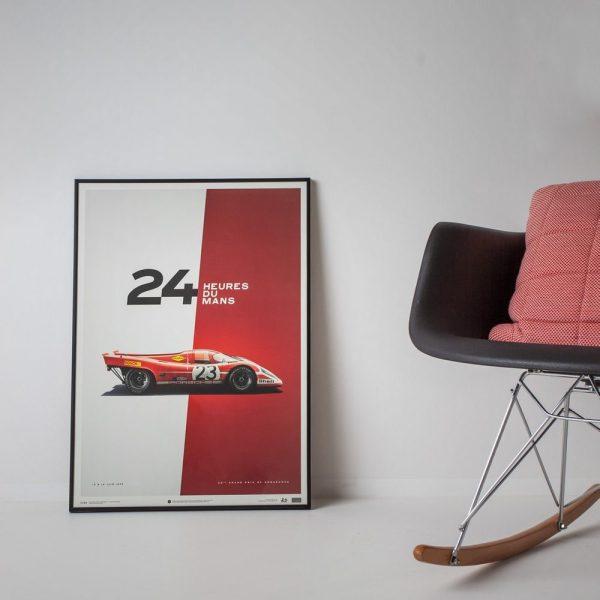 Porsche 917 - Salzburg - 24h Le Mans - 1970 - Limited Poster | Unique #s - #1 image 7 on GreatBritishMotorShows.com