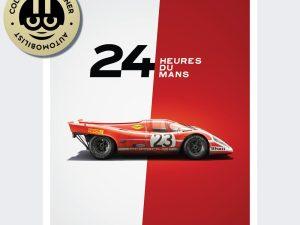 Porsche 917 - Salzburg - 24h Le Mans - 1970 - Limited Poster | Unique #s - #1 image 1 on GreatBritishMotorShows.com