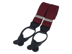 Burgundy Rolled Leather End Braces