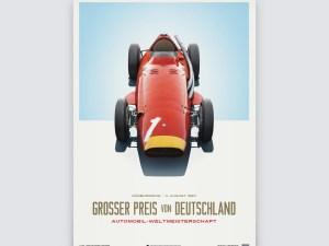 Maserati 250F - Juan Manuel Fangio - Red - German GP - Limited Poster