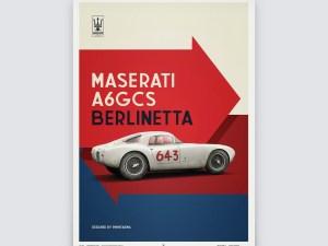 Maserati A6GCS Berlinetta 1954 - White