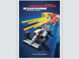 McLaren MP4/4 - Ayrton Senna - Blue - San Marino GP - 1988 - Poster