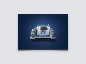 Porsche 917 - Martini - 24h Le Mans - 1971 - Colors of Speed Poster