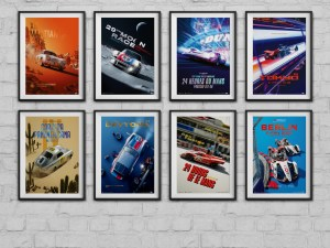 Porsche - Past and Future Collection   8 Posters   Collector's Edition
