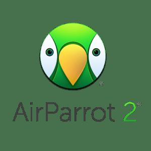 AirParrot 2 logo - cartoon face of parrot