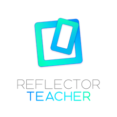 Reflector Teacher logo - light blue boxes