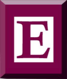 decorative - the letter E