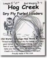 Hog's Creek Furled Leader - Gray Dun
