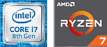POWERFUL INTEL®/RYZEN PROCESSORS