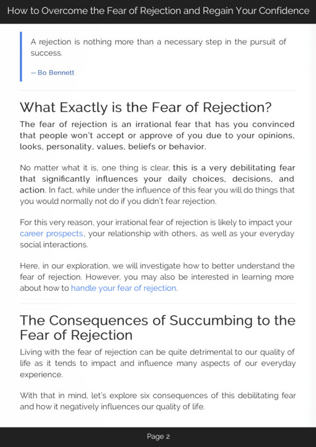 Fear of Rejection eBook