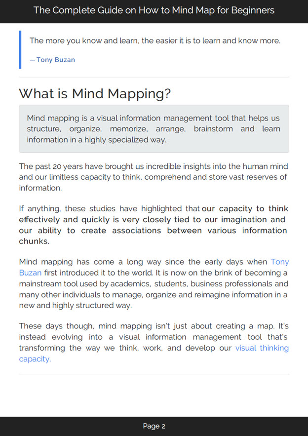 How to Mind Map eBook
