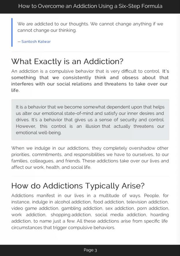Overcoming Addictions eBook