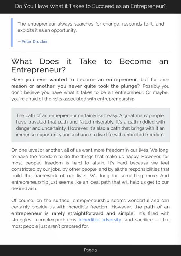 The Entrepreneurial Mind eBook