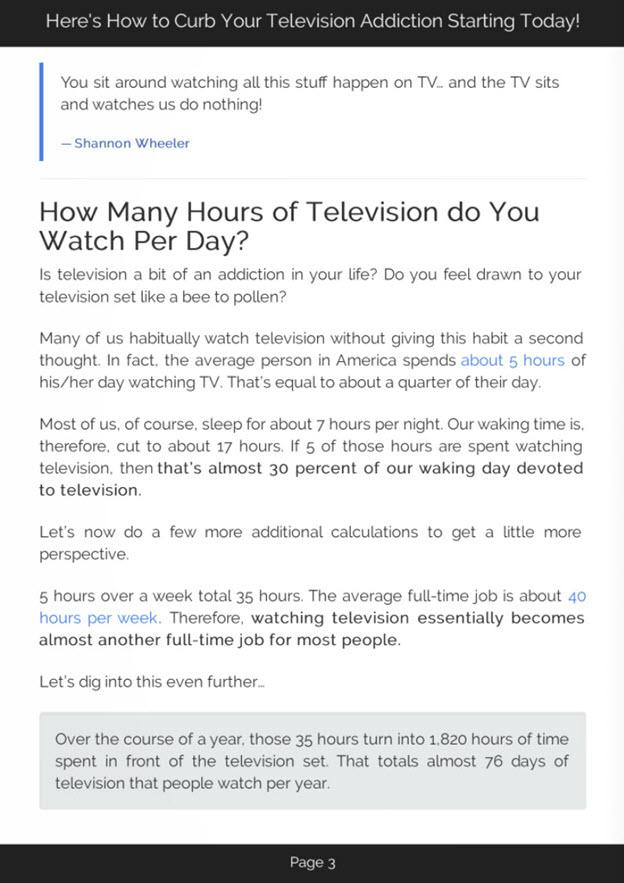 Curb Television Addiction eBook