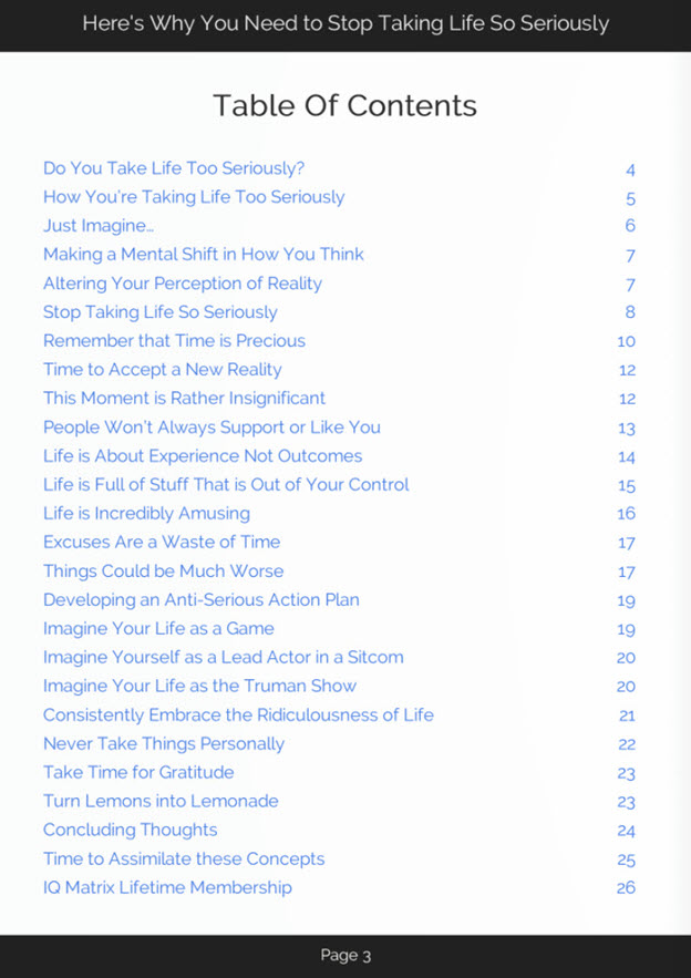 Stop Taking Life Seriously eBook
