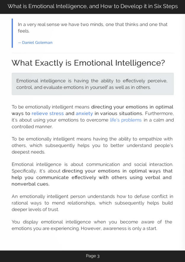 Developing Emotional Intelligence eBook Introduction