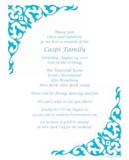 Family Reunion Letter Template, frt-07