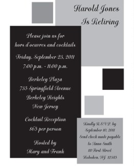 Retirement Party Invitation Template - RPIT-13_5x7